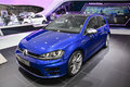 Volkswagen golf r at the geneva motor show on display during switzerland march Royalty Free Stock Photography