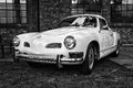 Volkswagen karmann ghia black and white oldtimer tage berlin brandenburg may berlin germany Royalty Free Stock Photography