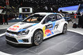 Volkswagen polo r wrc world rally car on display during the geneva motor show geneva switzerland march Stock Image
