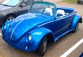 Volkswagen super beetle convertible royal blue Royalty Free Stock Photos