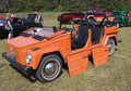 Volkswagen thing orange car waupaca wi august a at waupaca rod and classic show august in waupaca wisconsin Stock Photo