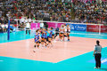 Vollayball fighting time at world grand prix preliminary round pool l week august thailand germany Royalty Free Stock Image