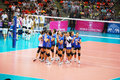 Vollayball thai team at world grand prix preliminary round pool l week august thailand germany Stock Images