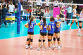 Vollayball thailand team at world grand prix preliminary round pool l week august thailand germany Stock Photo