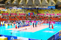 Vollayball world grand prix preliminary round pool l week august puerto rico russia Stock Image