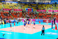 Vollayball world grand prix preliminary round pool l week august puerto rico russia Royalty Free Stock Images