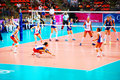 Vollayball world grand prix preliminary round pool l week august puerto rico russia Stock Photos