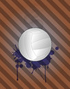 Volley background illustration of ball with grunge stein Stock Photos
