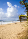Volley ball court beach long bag corn Royalty Free Stock Photo