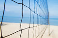 Volley ball net on the beach Royalty Free Stock Photo