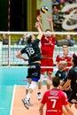 Volley milan italy april f marretta corigliano in a m play off vero monza corigliano on april in milan italy Stock Photo