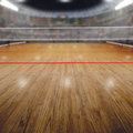 Volleyball Arena With Spectators and Copy Space Royalty Free Stock Photo