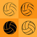 Volleyball Ball Set 2 Royalty Free Stock Photo