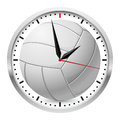 Volleyball clock illustration on white background for design Royalty Free Stock Photography