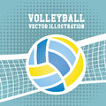 Volleyball design sport over dotted background vector illustration Royalty Free Stock Photos