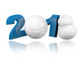 Volleyball design with a white background Stock Photos