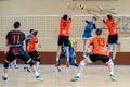 volleyball game dnipro vs kazhani ukrainian super league men Royalty Free Stock Photo
