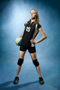 Volleyball girl Stock Images