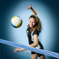 Volleyball girl Royalty Free Stock Photo