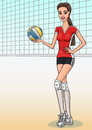 Volleyball girl. Royalty Free Stock Photo