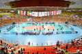 Volleyball hua mark indoor stadium at world grand prix preliminary round pools composition pool a i august http www fivb org en Royalty Free Stock Photography