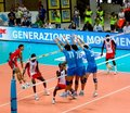Volleyball: Italian block Royalty Free Stock Photo