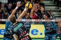 Volleyball Italian Serie A Men Superleague Championship Kioene Padova vs Sir Safety Conad Perugia Royalty Free Stock Photo