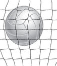 Volleyball and Net Royalty Free Stock Images