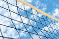Volleyball net sky clouds outdoors Royalty Free Stock Images