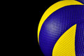 Volleyball official volley ball isolated with black background for website screensaver wallpaper screen background Stock Photos