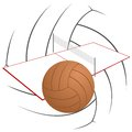 Volleyball summer kinds of sports illustration on a sports theme Royalty Free Stock Image