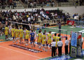 Volleyball: Trentino Volley vs Modena Stock Photos