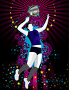 Volleyball vector composition Royalty Free Stock Images