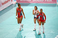 Volleyball wgp dominican republic team at world grand prix preliminary round pools composition pool a i august http www fivb org Stock Photography