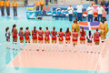 Volleyball wgp dominican republic team at world grand prix preliminary round pools composition pool a i august http www fivb org Royalty Free Stock Images