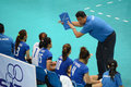 Volleyball wgp usa vs thai coaching team at world grand prix preliminary round pools composition pool a i august nnhttp www fivb Royalty Free Stock Photos