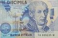 Volta Italian physicist on 10000 lire banknote Royalty Free Stock Photo