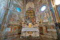 VOLTERRA, TUSCANY - MAY 21, 2017 - Church of Saint Francis, inte Royalty Free Stock Photo