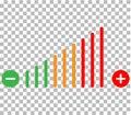 volume adjustment icon. volume adjustment on transparent background. volume adjustment color sign.