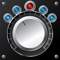 Volume control design with led buttons Royalty Free Stock Photo