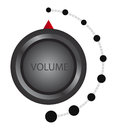Volume control vector metallic knob illustration Royalty Free Stock Photo