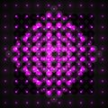 Volume futuristic composition in violet on black