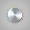 Volume icon on gray background Royalty Free Stock Photography