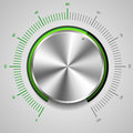 Volume knob detailed illustration of a metallic Stock Images