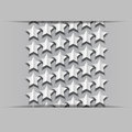 Volume paper stars on a gray background Stock Photography