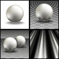 Volume spheres on a gray background Stock Photo