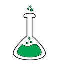 Volumetric flask icon vector Royalty Free Stock Photo
