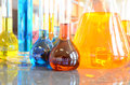 Volumetric Flasks Royalty Free Stock Photo