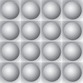 Volumetric pattern - gray spheres and squares Royalty Free Stock Image