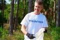 Volunteer beach park environmental cleanup Royalty Free Stock Photo
